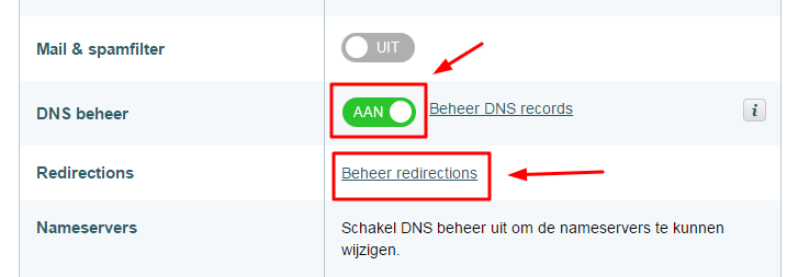 redirect-aanzetten